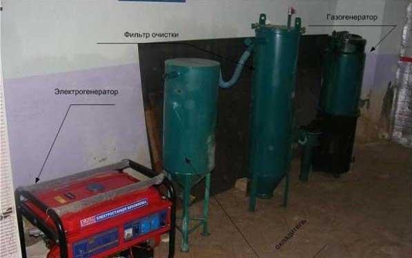 Электрогенератор на дровах