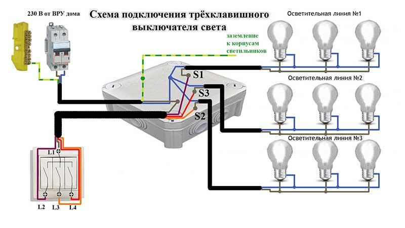 Схема правильного подключения люстры