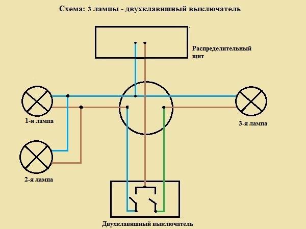 Электрические схемы подключения электрических ламп