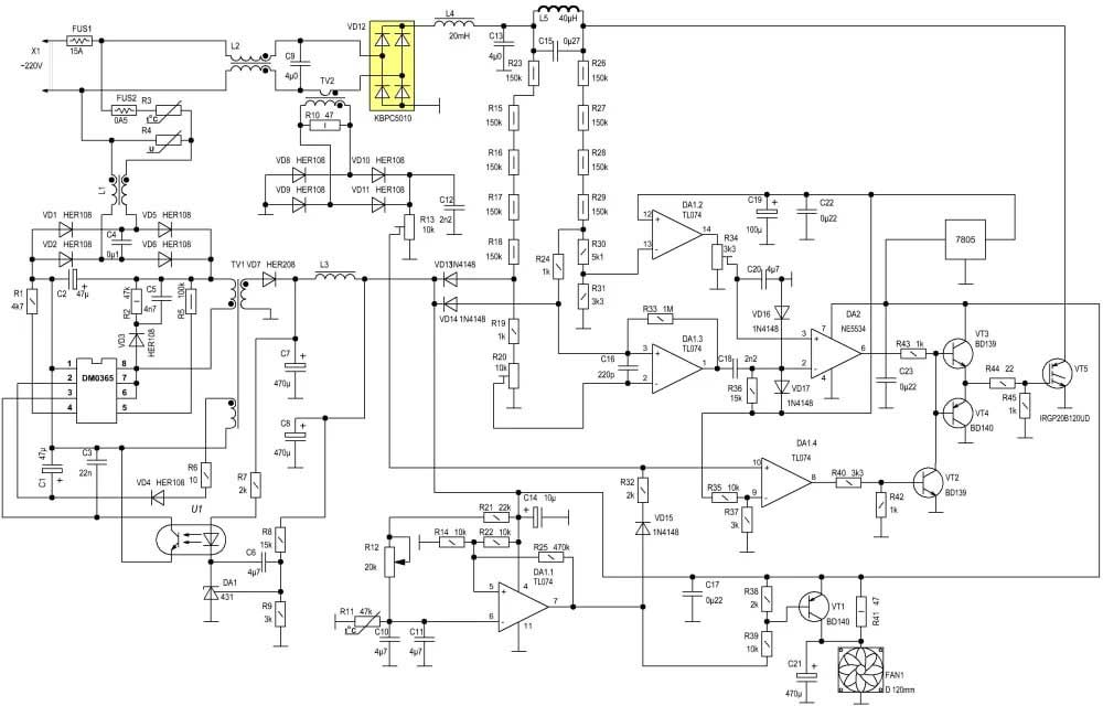 on Induction Cooker Circuit Diagram